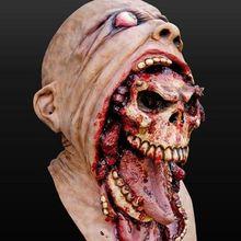Латексная маска зомби для Хэллоуина, плавильный костюм ужаса, страшные маски для головы