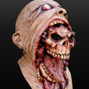 Image 1 - Latex Zombie Halloween Mask Melting Horror Costume Dead Scary Head Masks Bloody