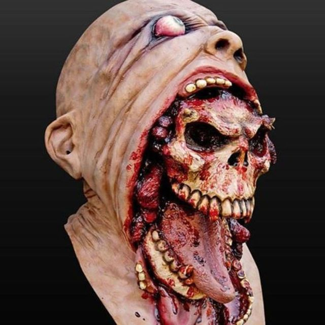 Latex Zombie Halloween Mask Melting Horror Costume Dead Scary Head Masks Bloody