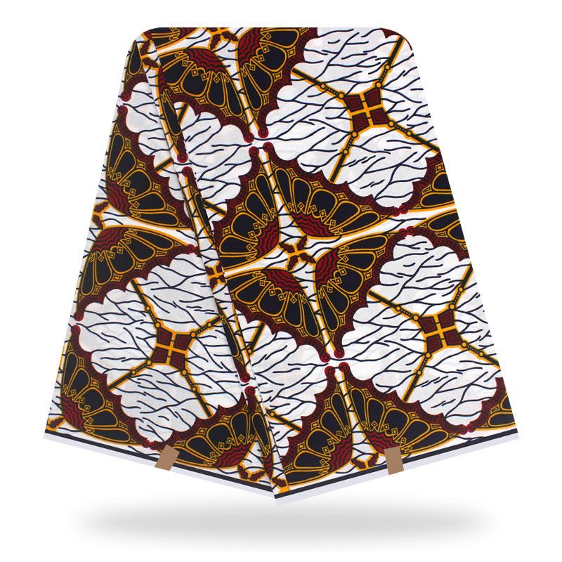 High Quality Dashikiage African Ankara Pagne Ghana Veritable Real Dutch Wax Fabric For African Dress 100% Cotton Batik Fabric