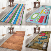 Plate floor pad, tableware floor pad, solid wood floor pad, board flower printing Anti-Slip water absorption flannel floor pad plate floor pad plate type flower type printing anti slip absorbent flannel home floor pad