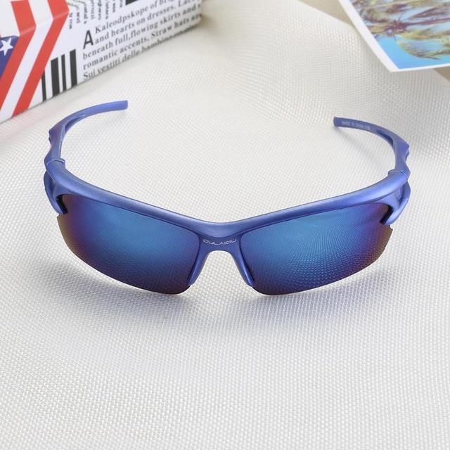Óculos de sol para ciclismo proteção UV 400, proteção de olhos óculos de bicicleta Mountain Bike para ciclismo à prova de explosão esportes ao ar livre para moto 4