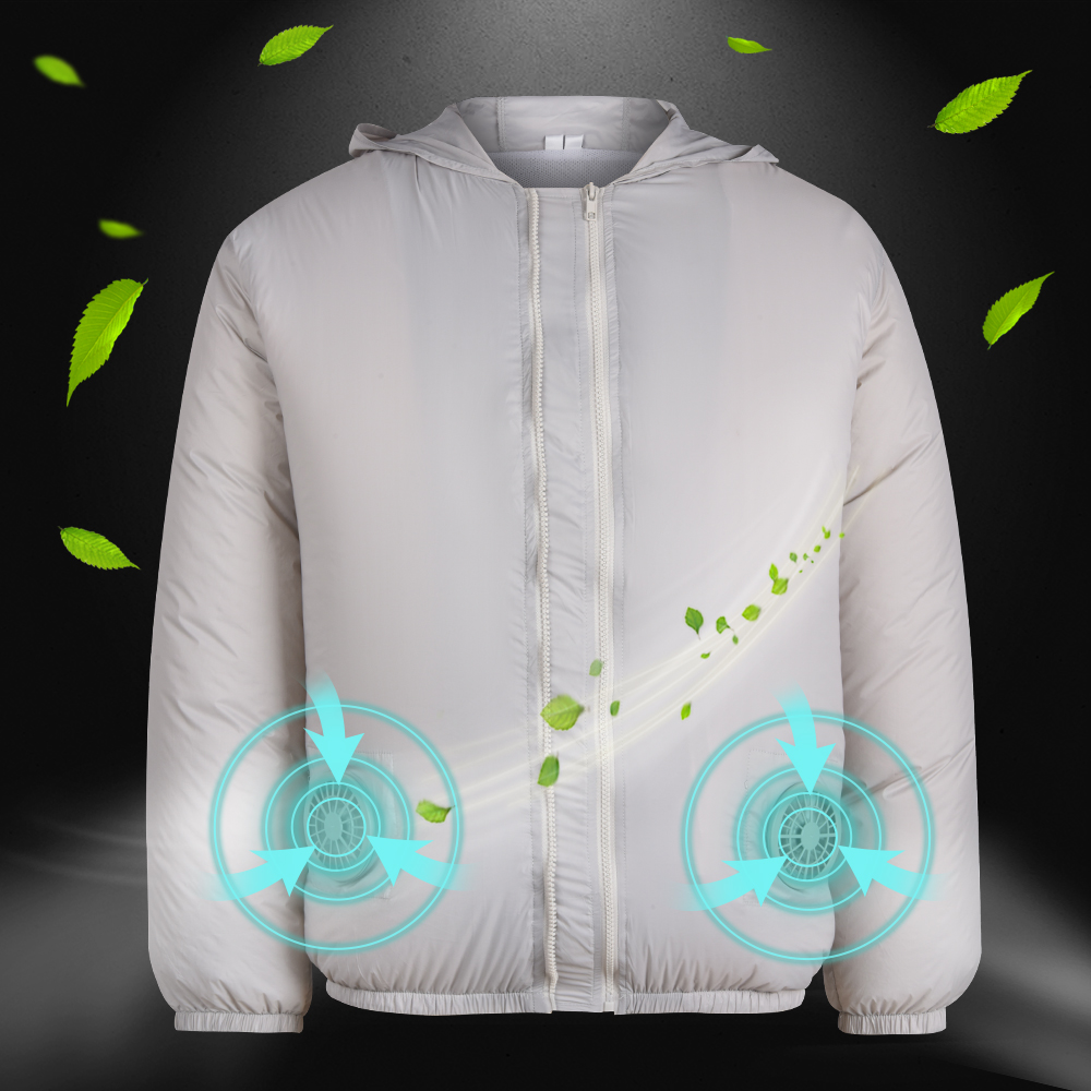 Air-Conditioned Clothes 3-speed USB Jacket With 4 Fans UV Protection Suit Unisex Summer Outdoor Women Men Cooling Sweatshirt D30