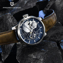Pagani Дизайн Скелет Мужские часы Топ бренд Роскошный механический