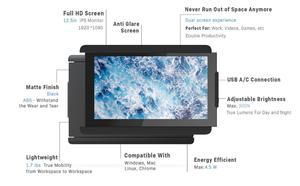 Image 5 - DUEX on the go dual screen Portable Laptop monitor for all Laptops Apple Lenovo multi task simple use lightweight & sleek design