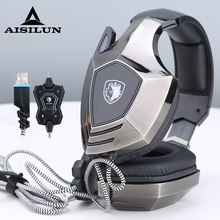 SADES A60 Game Headset 7.1 Surround Sound Pro Gaming Headset Gamer Vibration Function Headphones Earphones with Mic for PC Game