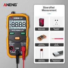 S1 Intelligent Automatic Range Digital Multimeter 4000-digit Digital Display Counts AC Voltage Current Ohm Test Tool 40Hz~1kHz #