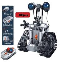 408PCS Kit di Robot RC ad alta tecnologia creativo blocco di costruzione elettrico città telecomando Robot intelligente mattoni giocattoli per bambini