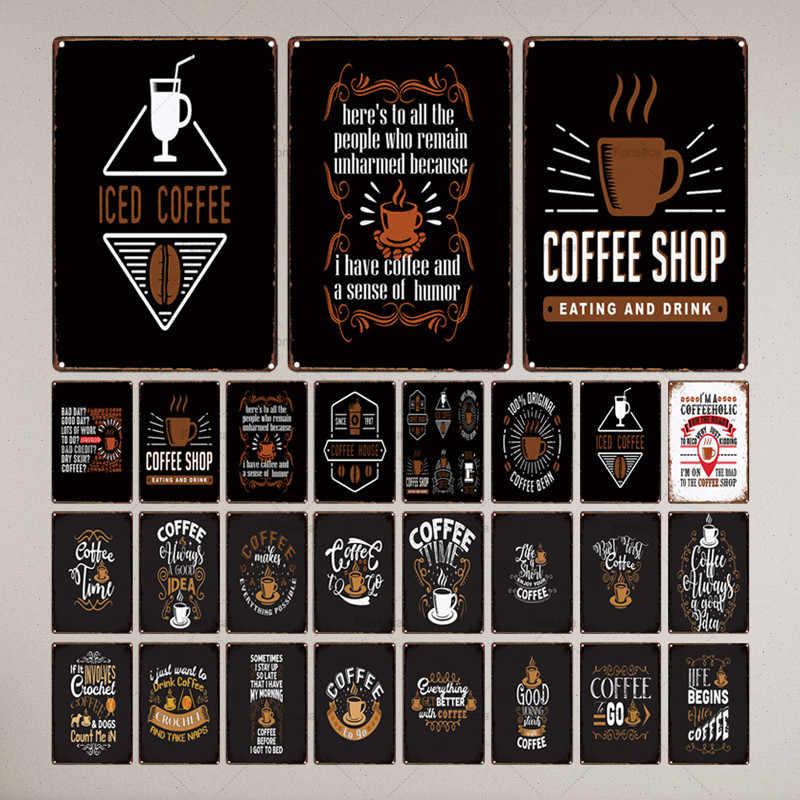 Shabby Chic Wall Cafe Home PUB Art KITCHEN Bar VINTAGE Decor ทุกอย่างดูดีขึ้นกาแฟโลหะ 30X20CM LC-6905A