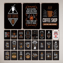 Shabby Chic Wall Cafe Home PUB Art KITCHEN Bar VINTAGE Decor ทุกอย่างดูดีขึ้นกาแฟโลหะ 30X20CM LC-6905A(China)