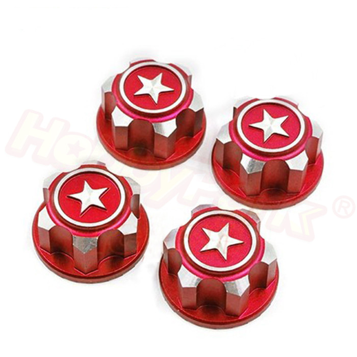4PCS RC Car Aluminum 17mm Hex <font><b>Wheel</b></font> Nuts Dustproof Anti-Skid Non-slip for 1/8 Traxxas X-Maxx Summit E-Revo ARRMA Buggy Truck image