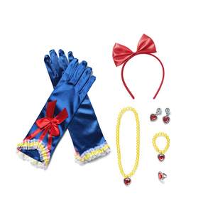 Аксессуары для девочек и принцесс Анна Эльза, Белль, белоснежная волшебная палочка, ожерелье, перчатки, серьги, браслет, наборы красивой одежды для сна
