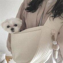 Собака один-плечо путешествий Pet перевозчик сумка ручной работы домашнее животное на открытом воздухе путешествие сумка слинг комфорт путешествия сумка плеча рюкзак