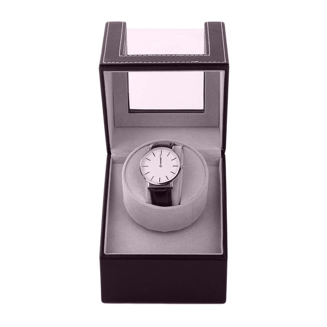 Organizador de almacenamiento soporte automático de caja de bobinado para reloj mecánico