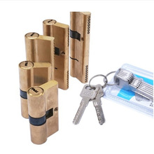 Door Cylinder Biased Lock 65 70 80 90 115mm Cylinder AB Key Anti-Theft Entrance Brass Door Lock Lengthened Core Extended Keys