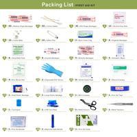 220 Uds Kit de primeros auxilios DIY vendaje Triangulaire almohadilla para heridas cinta médica para viaje en casa campamento al aire libre Kits de primeros auxilios Accesorios