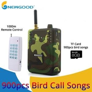Camouflage Mini Portable Speaker Bird Caller Hunting Decoys 1000m Remote Control Speaker 900pcs Bird songs Recording TF USB disk