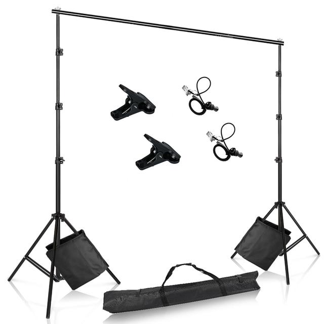 صور خلفية حامل قابل للتعديل التصوير الشاش خلفية دعم نظام الوقوف مع حقيبة الرمل للصور استوديو الفيديو
