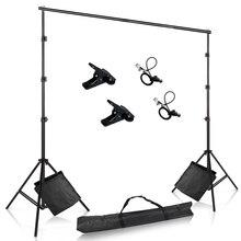 Suporte de fundos de fotografia ajustável, suporte de fundo de musselina para fotografia, sistema com bolsa de areia para estúdio de vídeos fotográficos