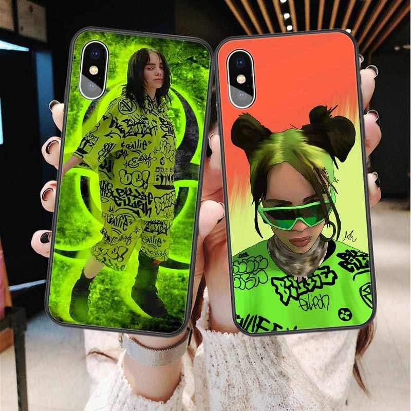 Billie Eilish Freak City Green Graffiti siliconen Telefoon Case Back Cover Voor iPhone 11 Pro Max X 5s SE 6 6S 7 8 Plus XR XS MAX XS