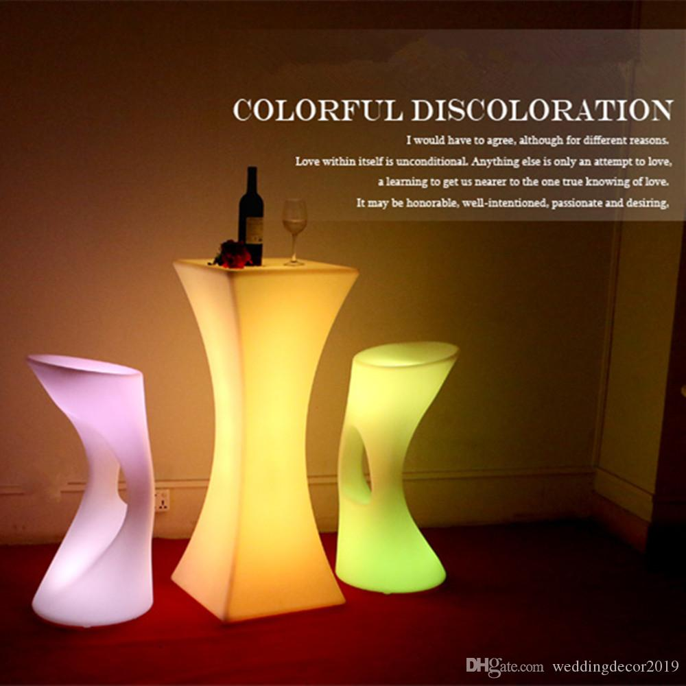 Новинка, 16 цветов, светодиодная барная мебель высокого класса, коктейльный стол, растущая коммерческая мебель, вечерние украшения для