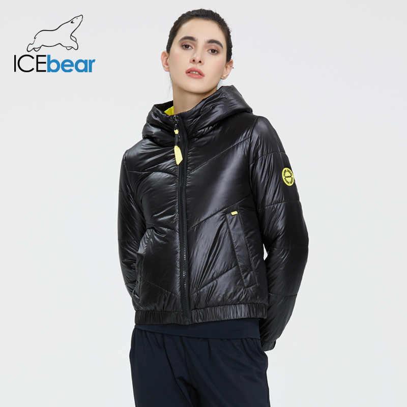 ICEbear 2020 damska kurtka wiosenna moda damska płaszcz wysokiej jakości markowa bluza z kapturem odzież GWC20067I