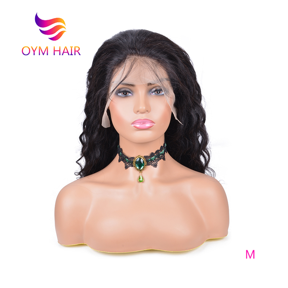 OYM HAIR Full Lace Human Hair Wigs For Black Women Loose Wave Remy Brazilian Hair Natural Hairline Full Lace Wig