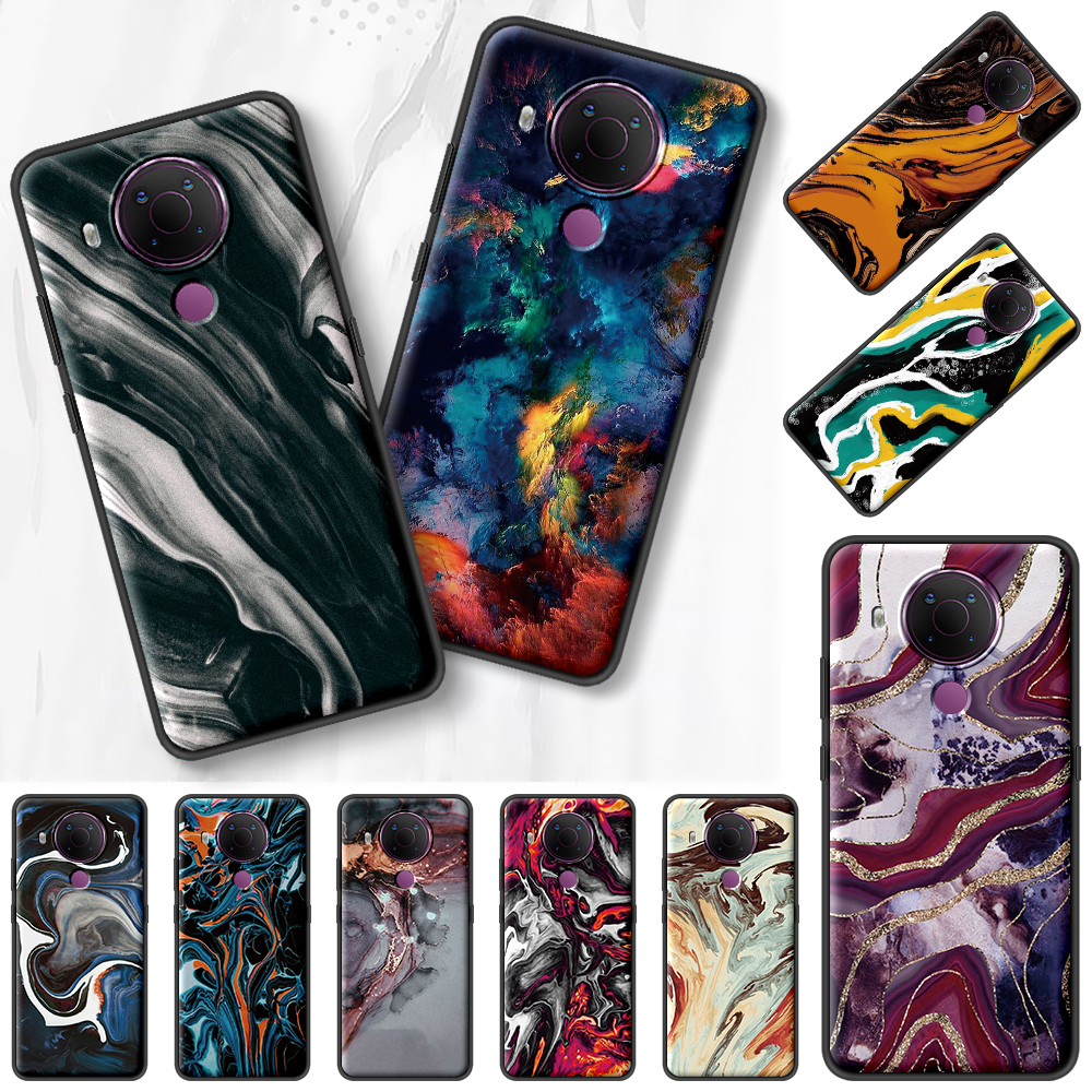 Abstract Art Colorful Black Capa For Nokia 7.2 5.3 2.3 3.4 1.4 5.4 2.4 4.2 3.2 8.3 5G 1.3 2.2 C3 C2