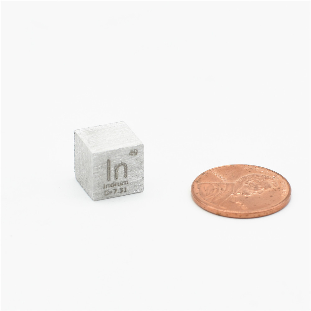 Pure Indium In Cube High Purity 99.995% For Scientific Research And Development Element Metal Simple Substance