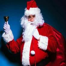 1 adet Metal Xmas el Bel ahşap saplı yeni yıl festivali parti kutlamak dekor gümüş araçları Santa çıngırak altın baba Han I1X0