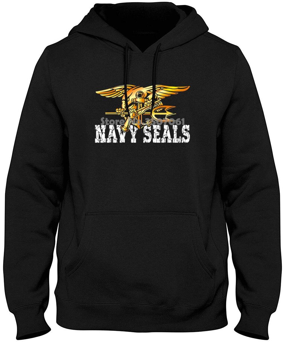 100% Cotton Short Sleeve Long Sleeve O-neck Tops U.s. Navy Seals Original Seals Team  Hoodies & Sweatshirts