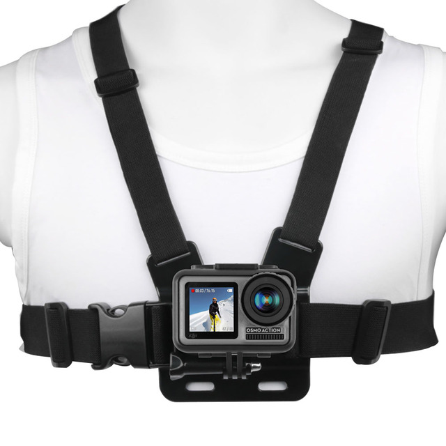 Ruigpro Adjustable Harness Chest Strap Mount For DJI osmo action camera Gopro Hero 9 8 7 6 5 4 Xiaomi Yi 4K Go Pro 7 Accessory