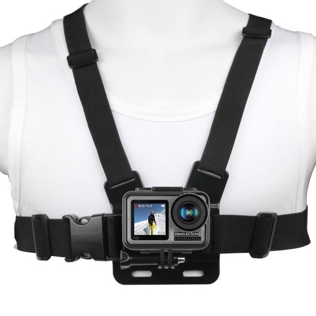 Ruigpro قابل للتعديل تسخير الصدر حزام جبل ل DJI osmo عمل كاميرا Gopro بطل 8 7 6 5 4 شاومي يي 4K h9 الذهاب برو 7 ملحق