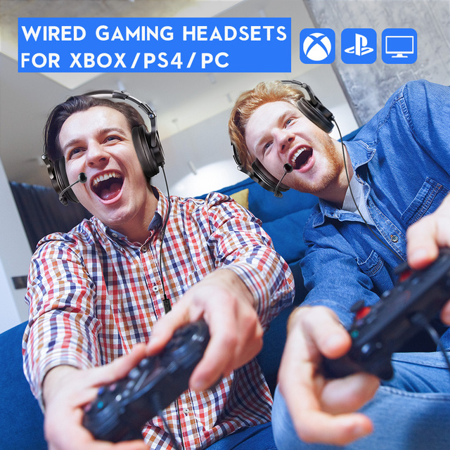 Oneodio Wired Gaming Headset Gamer 3.5mm Over-Ear Stereo Gaming Headphones With Detachable Microphone For PC Computer PS4 Phone 6