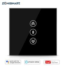 WiFi Vorhang Schalter Für Elektrische Blind Alexa Echo Google Home Interruptor mit Arbeits Zeitplan Touch Control 110V 220V