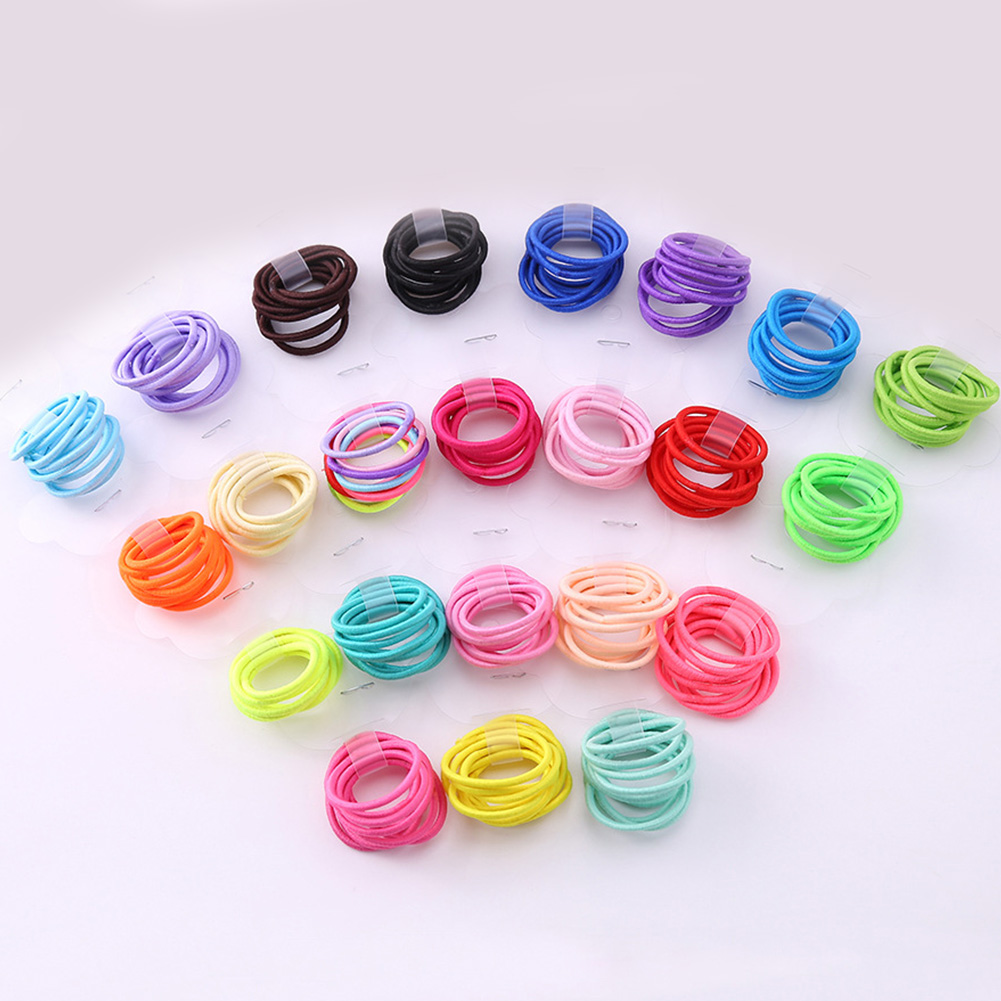 10pcs/lot Hair Accessories Girls Rubber Bands Scrunchy Elastic Hair Bands Kids Baby Headband Decorations Ties Gum For Hair