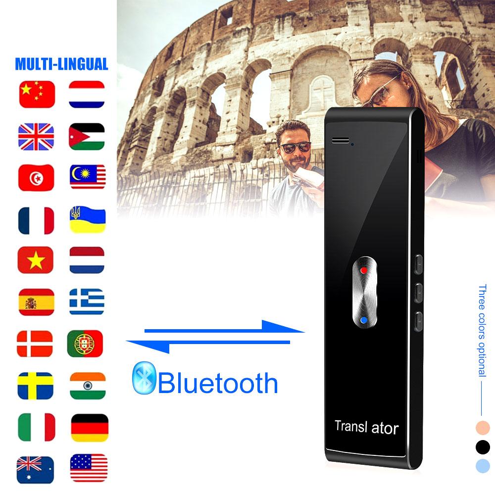 T8S traducteur vocal intelligent voix en temps réel multi-langues Portable Bluetooth traducteur vocal pour voyager apprentissage réunion