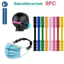 8 adet yetişkin yüz için maske kanca ayarlanabilir maskesi aksesuarları kauçuk uzatma toka sabit kulak bandaj
