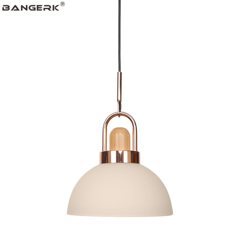 Modern Glass Iron Pendant Lamp Loft Decor LED Hanging Light Fixtures Dining Room Bar Bedroom Home Lighting Hanglamp Droplight