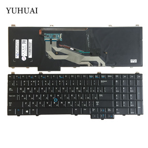New Russian Keyboard For DELL Latitude 15 5000 E5540 laptop Keyboard RU With Mouse Pointer Backlit Black(China)