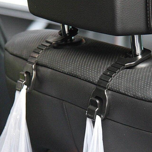 2 sztuk nośne 2kg hak do siedzenia samochodu wieszak na zagłówek uchwyt na torebkę Auto worek na gruz torebka organizator akcesoria samochodowe wnętrze