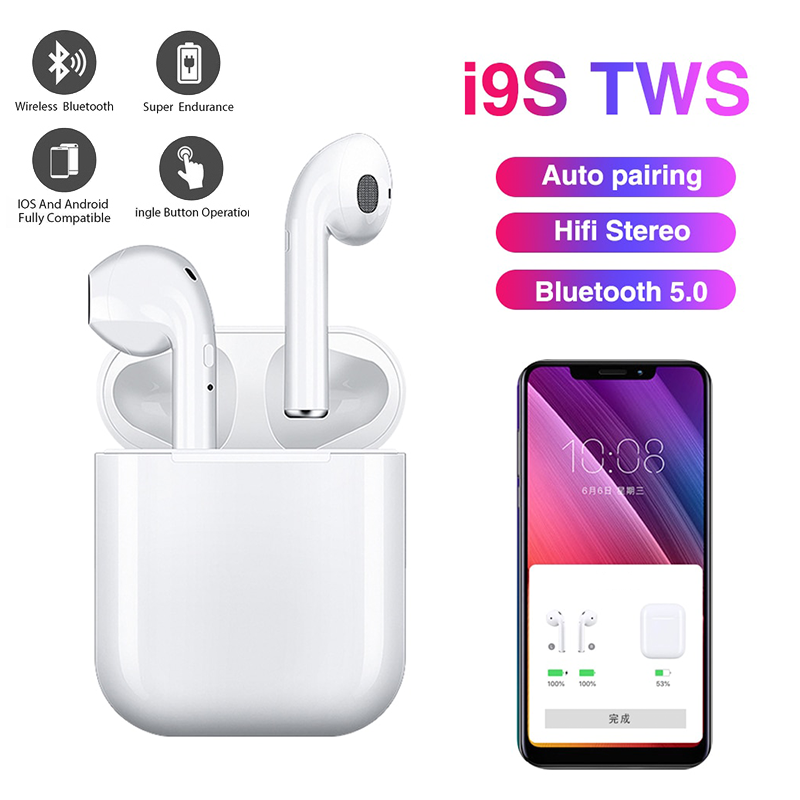 True Wireless Stereo Earbuds <font><b>I9S</b></font> TWS Wireless <font><b>Earphone</b></font> Mini <font><b>5.0</b></font> <font><b>Bluetooth</b></font> Headphone Sports Headset Earbud for All Smart Phone image