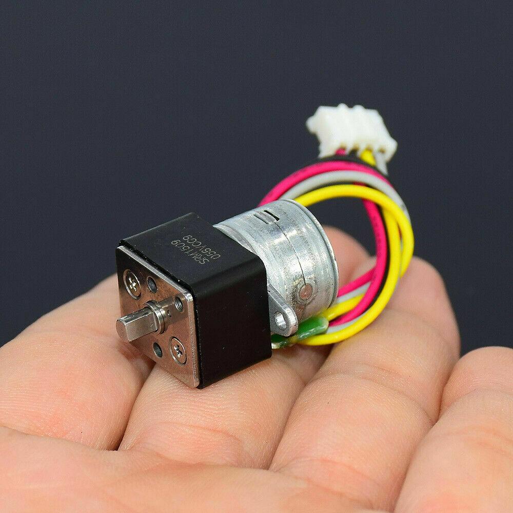 DC 12V 2-Phase 4-Wire Mini 15mm Full Metal Gear Stepper Stepping Motor Micro Gearbox Precision Ratio 35:1 DIY Digital Camera