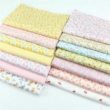160x50cm bonito pequeno floral puro algodão tecido de costura que faz para meninas vestido pijamas homewear impresso pano