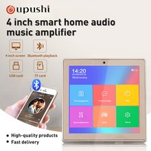 Oupushi Smart Home Audio System Music Player 4inch Mini Touc