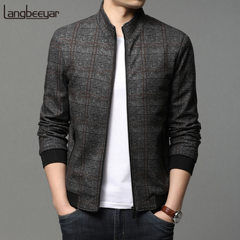 2020 High Quality New Brand Casual Fashion Streetwear Zipper Mens Bomber Jackets Windbreaker Plaid Coats Korean Men Clothing new fashion women female korean short type long sleeve slim motor zipper leather jackets coats