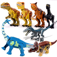 Jurassic mundo brutal raptor blocos de construção jurrassic mundo 2 dinossauro figuras tijolos brinquedos para crianças compatíveis