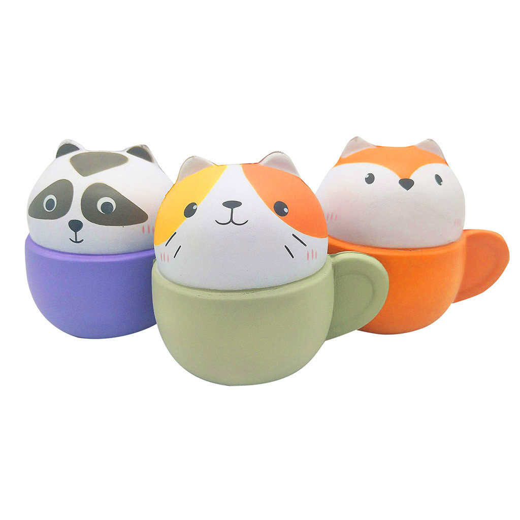 Squishy Toy Slow Rebound And Cute Animal Cup Combination Decompression Venting Toy
