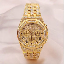 Relogio feminino Top Brand Watch Quartz Ladies Gold Fashion Wristwatches Diamond Women Wristwatch Girls Female Clock Hours(China)
