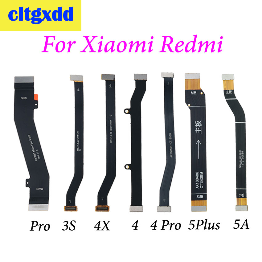 cltgxdd 1pc Main Board <font><b>Motherboard</b></font> LCD Display Connector Flex Ribbon Cable For <font><b>Xiaomi</b></font> <font><b>Redmi</b></font> 3 3S 4 Pro <font><b>4X</b></font> 4pro 5 Plus 5A image